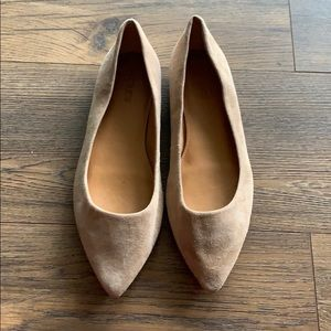 JCrew Tan seized flats
